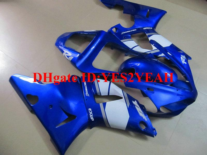 Fairing body kit for 2000 2001 YAMAHA YZFR1 00-01 YZF R1 Injection mold YZF-R1 YZR1000 00 01 White blue Fairings bodywork+GIFTS YW29