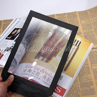 Wholesale Large Magnifier 3x - Free shipping Big A4 Full Page Book Reading Aid Lens Magnifier Sheet Large Magnifying Glass 3X Magnifier