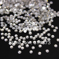 Wholesale Flat Clear Glass Beads - 1 Pack Bling Charm Clear Glass Flat Back Crystal Beads Rhinestones Non Hotfix Nail Art Salon Cellphone Scrapbooking Decorations