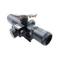 Wholesale Moa Rifle Scopes - Tactical riflescope 2.5-10x40 with red laser sight Illuminated Mil Dot Reticle 1 4 MOA Red Laser