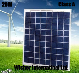 Wholesale Laptop Batteries Free Shipping - Special price 20W High quality polycrystalline solar panel, for 12V battery charging,Free shipping