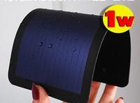 diy solarzellen-ladegerät großhandel-Neue verbesserte 1W flexible Solarzellen aus amorphem Silizium können faltbare sehr schlanke Solarpanel 2V 660MA für Diy, Handy-Ladegerät