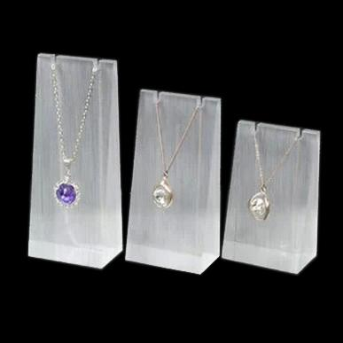 best selling High-Grade Acrylic Display Stand Earring Rack Pendant Necklace Holder Triangle Block three-piece