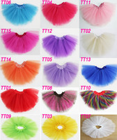 Wholesale Multi Color Petti Skirt - Hot Sale New Summer children girls tutu petti skirt 100%polyester 3layes girls tutu skirt 15Color for choose freely 10pcs lot Melee
