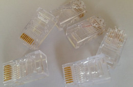 Hight quality RJ45 RJ-45 CAT5 Modular Plug Network Connector 5000pcs lot