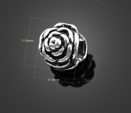Wholesale Tibetan Beads Sale - Hot sale! 13725 100pcs Tibetan Silver rose Beads Fit European Bracelets