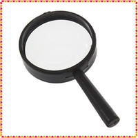 Wholesale 5x Hand Held Magnifying Glass - 50pcs Reading 5X Magnifier Hand Held Magnifying 25mm Glass handheld Free shipping