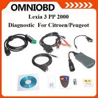Wholesale Scanner Lexia Citroen Peugeot - DHL Free Shipping Lexia-3 lexia 3 lexia3 V48 PPS2000 V48 Diabox 7.57 OBD Scanner For Citroen Peugeot auto diagnostic tool
