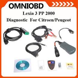 Wholesale Lexia Diagnostic - DHL Free Shipping Lexia-3 lexia 3 lexia3 V48 PPS2000 V48 Diabox 7.57 OBD Scanner For Citroen Peugeot auto diagnostic tool