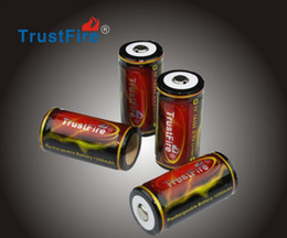 Wholesale Rechargeable Battery Protected - TrustFire 18350 Battery 3.7V 1200mAh Rechargeable Lithium Li-ion Recharge Protected Batteries Free Shipping