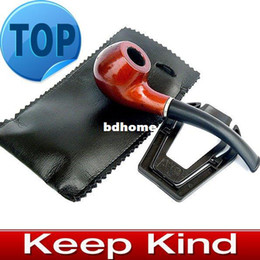 $enCountryForm.capitalKeyWord Canada - Free shipping Tobacco Smoking Pipe wood ana plastic with leather bag and pipe rack
