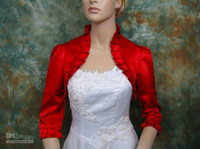 Wholesale Sleeve Satin Bridal Bolero Ivory - bridal jacket free shipping custom made high quality applique wedding dress 2015 new style Mex Colors Bolero Jacket New Arrival Custom Made
