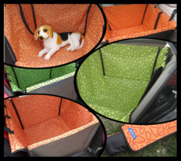 Wholesale Dog Car Seat Carrier - 12Pcs lot Cradle Dog Car Rear Back Seat Cover Pet Mat Blanket Hammock Cushion Protector P62