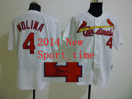 Wholesale Army Sign - best sports jersey Cardinals #4 Yadier Molina White jersey signed baseball jerseys authentic cool base jerseys breathable sports team jersey