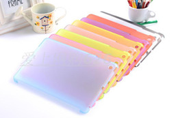 Wholesale Ipad Frosted Hard - Ultra Thin 0.5mm Frosted Clear Logo High Quality PC Multi Colors Flexibility Clingy Hard Coat Back Case Cover For ipad 2 3 4 ipad mini