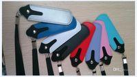 deri cebinde sigara toptan satış-2014 Sıcak satış En kaliteli Renkli Taşınabilir PU Deri İpi Taşıma Kılıfı Cep Boyun Sapan Halat Yuvarlak Köşe Kılıf Kapak için E-sigara