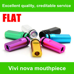 Wholesale Dct Starter Kit - NEW!!!Flat metal Drip Tips Colorful Mouthpiece for Clearomizer EE2  Vivi Nova  DCT T4 510 for ego starter kit e cig free shipping