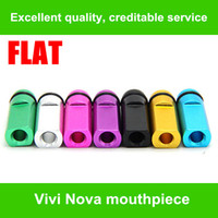 Wholesale Ego Cartomizers - High quality Flat Metal Drip Tip Head Metal Mouthpiece For EGO Atomizer E Cigarette 510 series DCT Vivi Nova Cartomizers Colorful