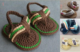 Wholesale Boys Crochet Sandals - Hot sale!Crochet toddler shoes children shoes,bare foot baby Sandal,boy shoes,baby shoes,walker shoes,baby wear,infant footwear.8pairs 16pcs
