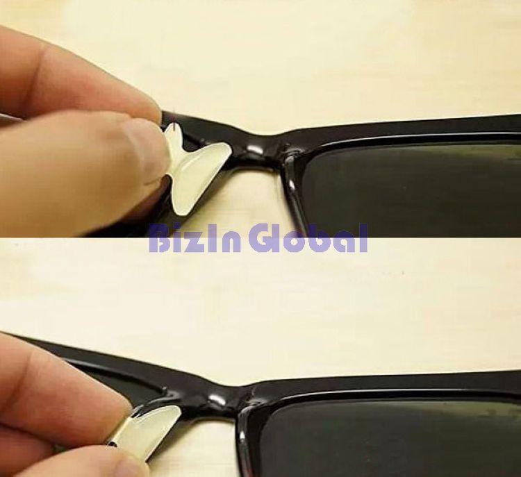 Black Transparent Anti Slip Non Slip Silicone Nose Pads For Eyeglass ...