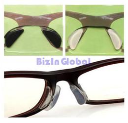 Wholesale Silicone Anti Slip Pad - 2.5mm Eyeglass Sunglass Glasses Spectacles Anti-Slip Silicone Soft Stick on Nose Pads 20 pair   lot