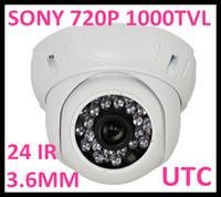 Wholesale Dome Security Camera Digital Zoom - Security CCTV 720P Sony 1.3 Mega Pixel IMAX 138 sensor 1000TVL night Vandalproof CCD Dome Camera  ICR  UTC Controller Digital Zoom 3DNR