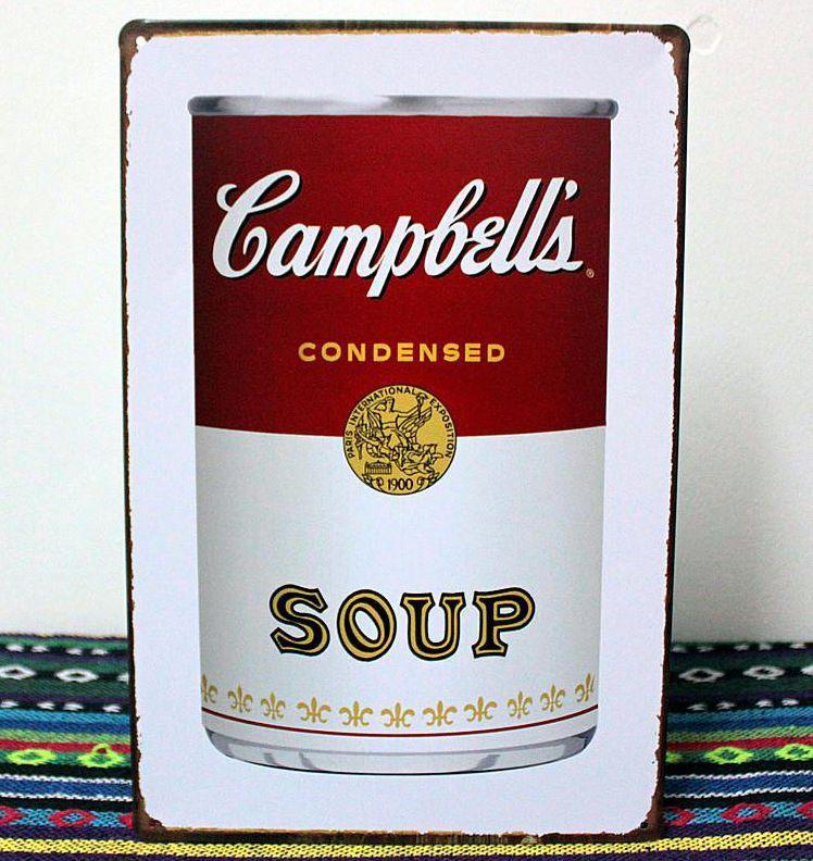 Acheter En Gros 20 * 30 Cm Campbell SOUPE CONDENSÉE Tin