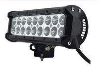 Wholesale Led Dual Flood Lights - 9 Inch 54W Dual Row LED Light Bar CREE LED Working Light 9-32V Bar Pencil Beam Flood Beam 5400LM IP67 Offroad Car Head Lamp DHL Shiping