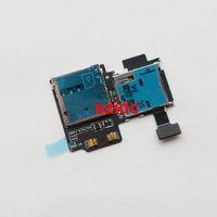 tarjeta de cable sim al por mayor-Original Nueva Tarjeta SD Lector de tarjetas SIM Tarjeta Tragamonedas Slot Flex Cable para Samsung Galaxy S4 i9500