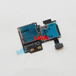 Wholesale Sd Galaxy - Original New SD Card Reader SIM Card Tray Holder Slot Flex Cable For Samsung Galaxy S4 i9500