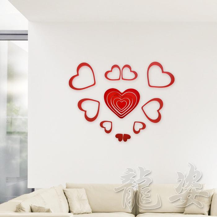 paint heart three dimensional wall stickers eco friendly crystal wall sticker background wall make your own wall decals make your own wall stickers from