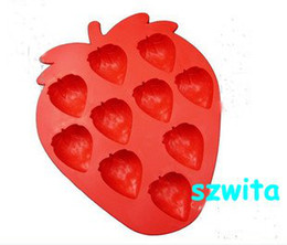 Wholesale Unique Mouldings - CPAM Free shipping 20pcs lot strawberry Unique & Novelty Ice Cube Tray ice mould box