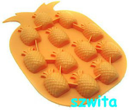 Free Shipping CPAM Free shipping 20pcs lot pineapple Unique & Novelty Ice Cube Tray ice mould box on Sale