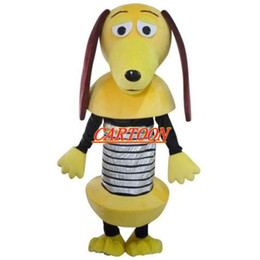 Wholesale Real Animals Dogs - Real Pictures Deluxe slinky dog mascot costume! factory direct, free shipping !