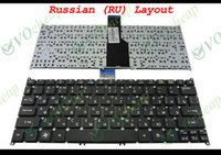 Wholesale Acer 756 - New and Original Notebook Laptop keyboard FOR Acer Aspire Ultrabook S3-391 S3-951 S5 S5-391, One 756, Travelmate B1 B113 Black Russian RU