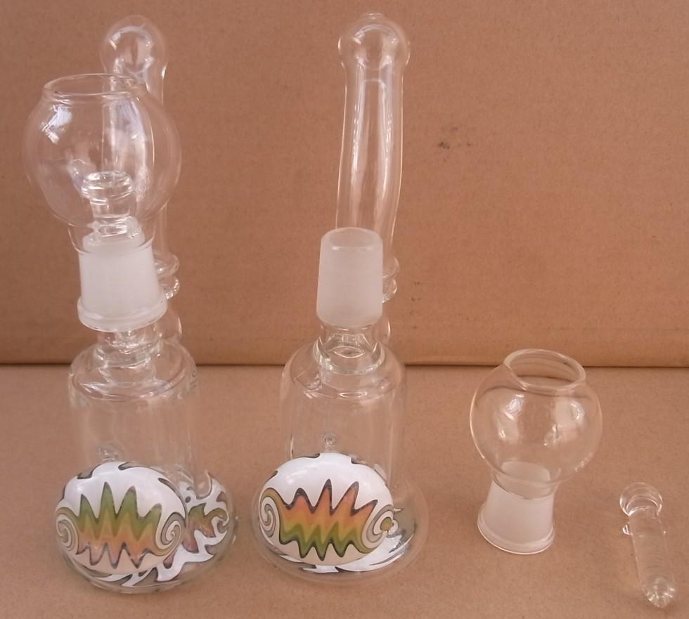 tuyaux en verre barboteur huile plate-forme en verre SD1-18.8