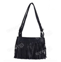Wholesale Fringe Bag Brown - Hot! Fringe Tassel Shoulder Messenger Bag Hand Style Women lady Satchel