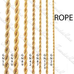 Venta al por mayor - la joyería GF de la cadena de las mujeres de los MENS de la cuerda de la cadena del collar de 3/4/5 / 24K plateó la joyería GNM28