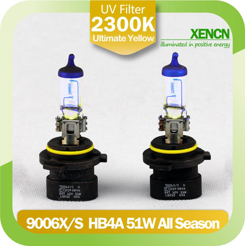 New XENCN HB4A 9006XS 12V51W 2300K Golden Eyes Super Yellow Light Visibility Plus Car Bulbs SYLVANIA Headlight Halogen Lamp Led Automotive Bulb Replacements