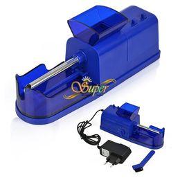 Wholesale Roll Drops - Electric Cigarette Tobacco Roller Rolling Injector Machine Maker Cigarette Machine EU Plug Free   Drop Shipping