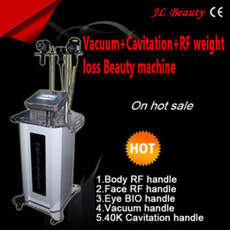 Machine Portable De Réduction De La Cellulite Pas Cher-Portable plus efficace Lipo Laser + cavitation RF réduction de la cellulite machine sous vide Minceur
