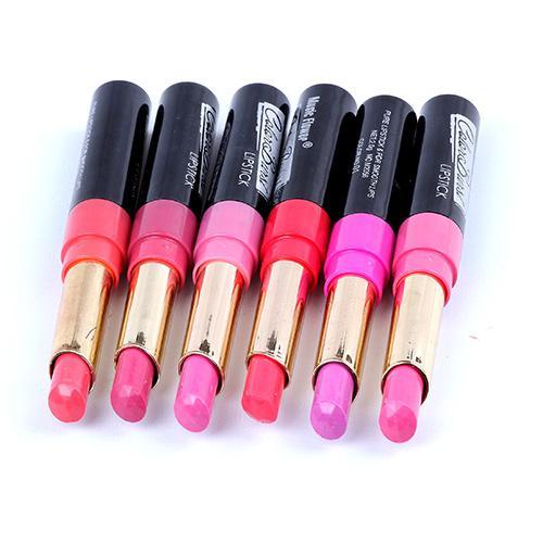 マットリップスティックブランドメイクアップリップスティック高品質店舗唇24ピース24彩色色合い暗い紫色のメイクアップリップスティックミルクリップ防水M2056