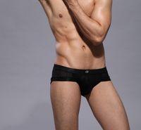 Wholesale Translucent Men Underwear - COCKCON men's underwear low-waist sexy translucent breathing holes u convex pouch briefs Men