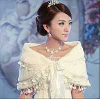 Wholesale Wedding Dresses Matching Jackets - In Stock Free Shipping Modern Style Bridal Wraps High Quality Feather White Match Dress Wedding Bridal Jackets