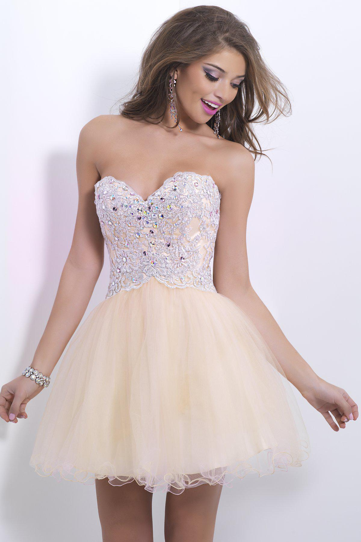 2014 Lace Sweet Sixteen Dance Dress Crystal Pink Champagne Blush ...