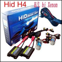 Wholesale Xenon 55w Ballast - 55W H4 bi xenon h4-3 H L H16 12v Car kit High and Low bi xenon HID Beam Slim Ballast Kit