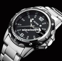 Wholesale Hk Calendar - HK Post Or SG Post 2014 NEW Stainless Steel Fashion Mens Quartz Analog Wrist Watch Men For 2014 Business Dress Watch