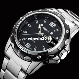Wholesale Sg Post - HK Post Or SG Post 2014 NEW Stainless Steel Fashion Mens Quartz Analog Wrist Watch Men For 2014 Business Dress Watch
