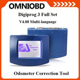 Wholesale Digiprog Full Set - Hottest Selling Digiprog III Digiprog 3 Odometer Programmer Full Set with Software V4.94 Digiprog3 Digi prog 3