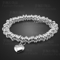 Wholesale Silver 925 Rough - Wholesale - Heart -shaped 925 sterling silver bracelet can be rough models unisex valentine